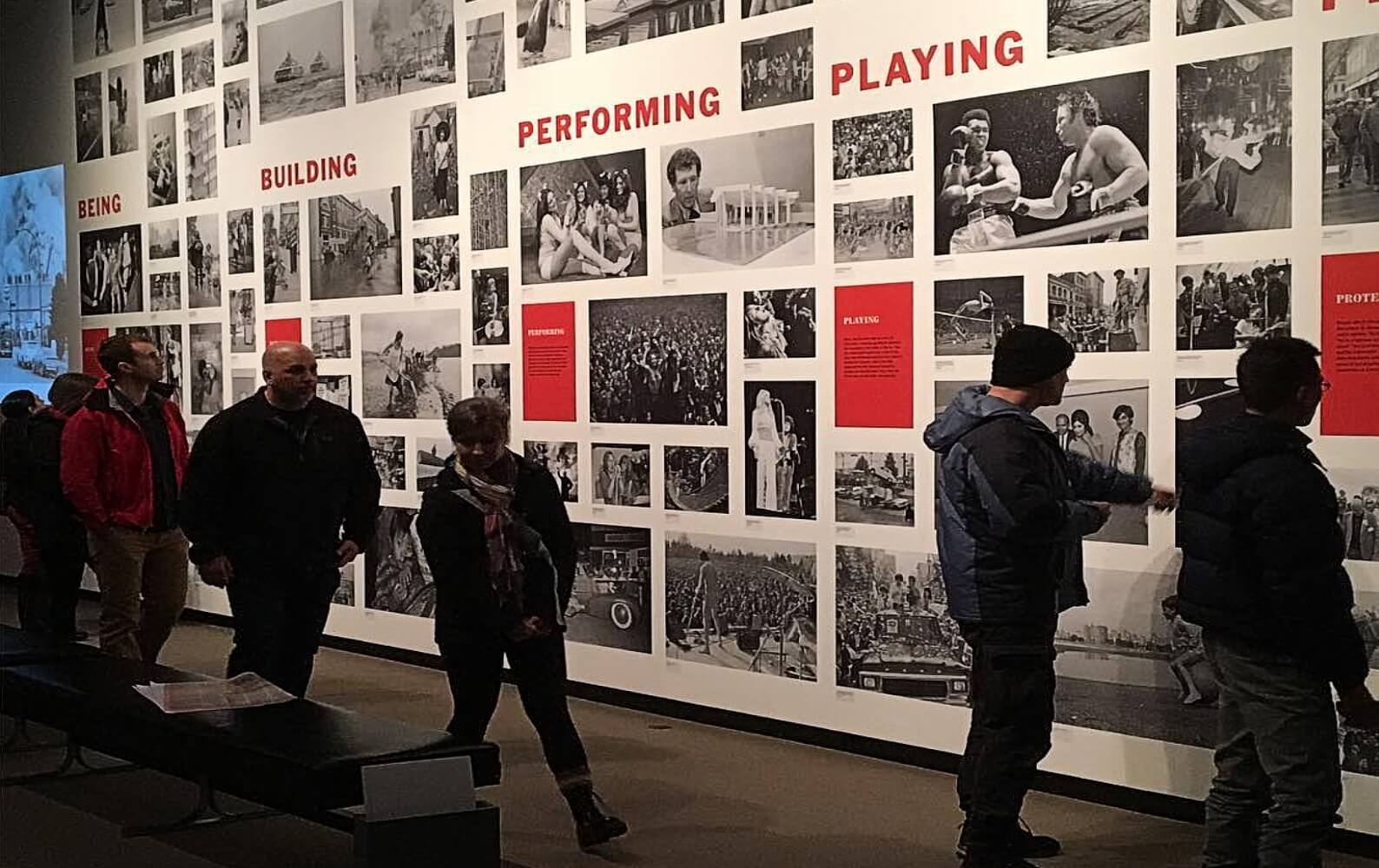 People view a display at the Museum of Vancouver