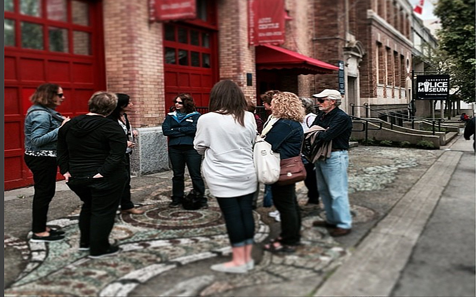 The Sins of the City Walking Tour outside the Vancouver Police Museum