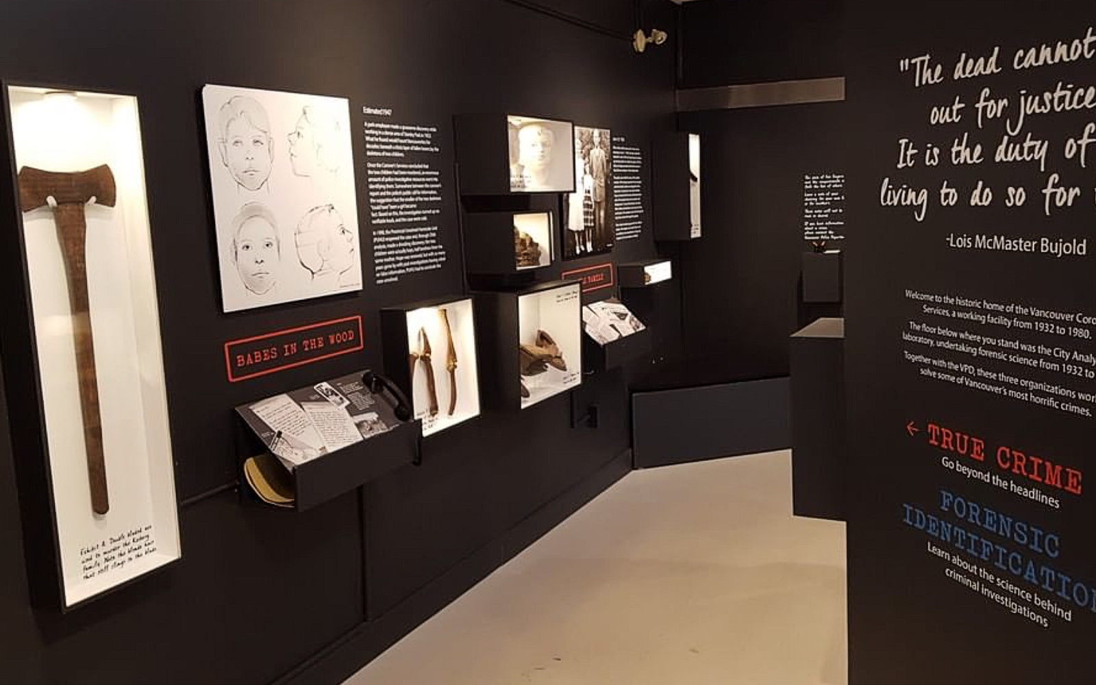 The True Crime Exhibit at the Vancouver Police Museum