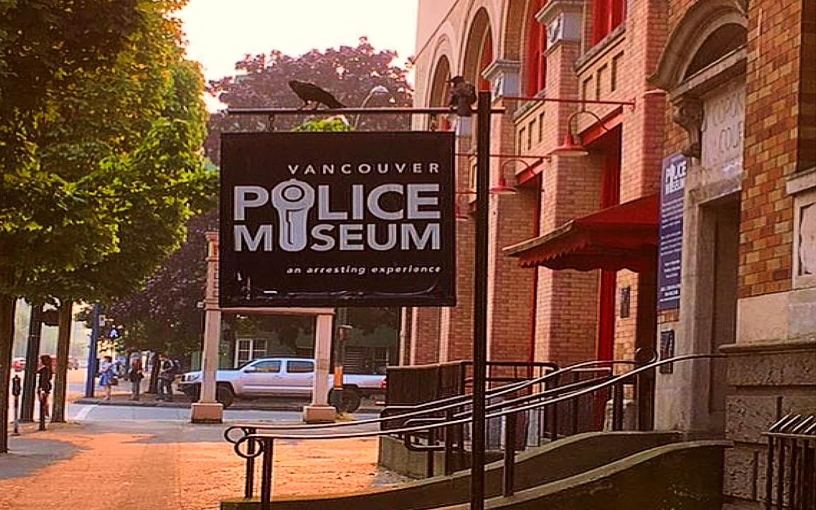 The front of the Vancouver Police Museum