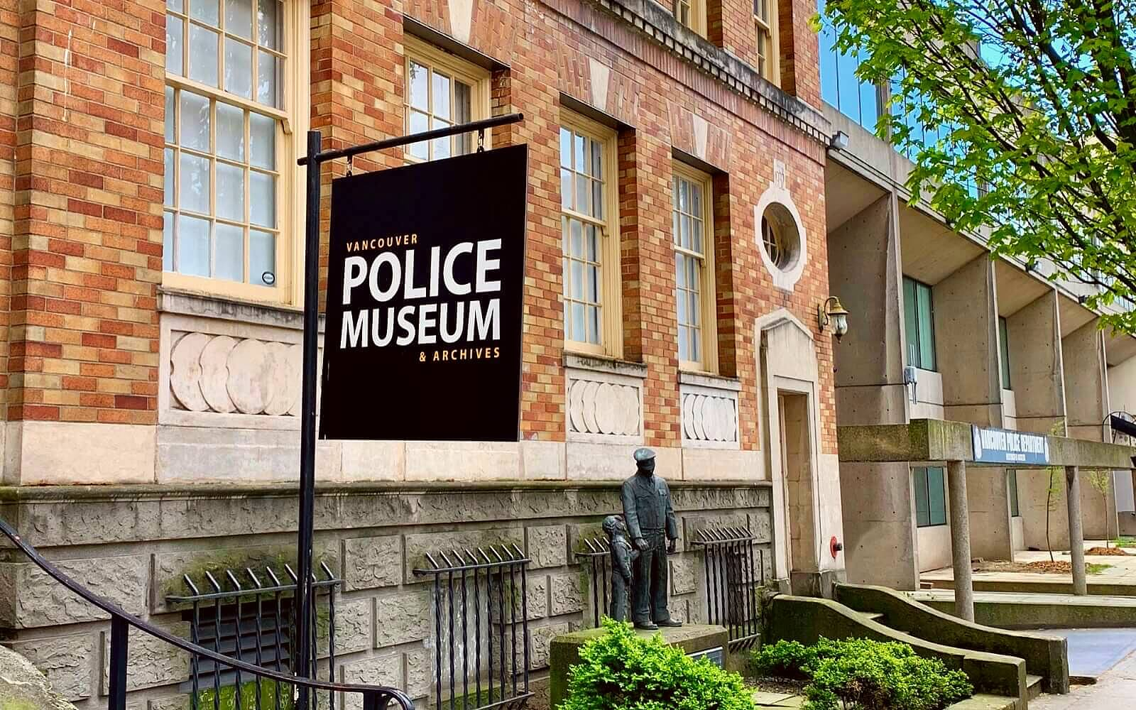 The entrance to the Vancouver Police Museum