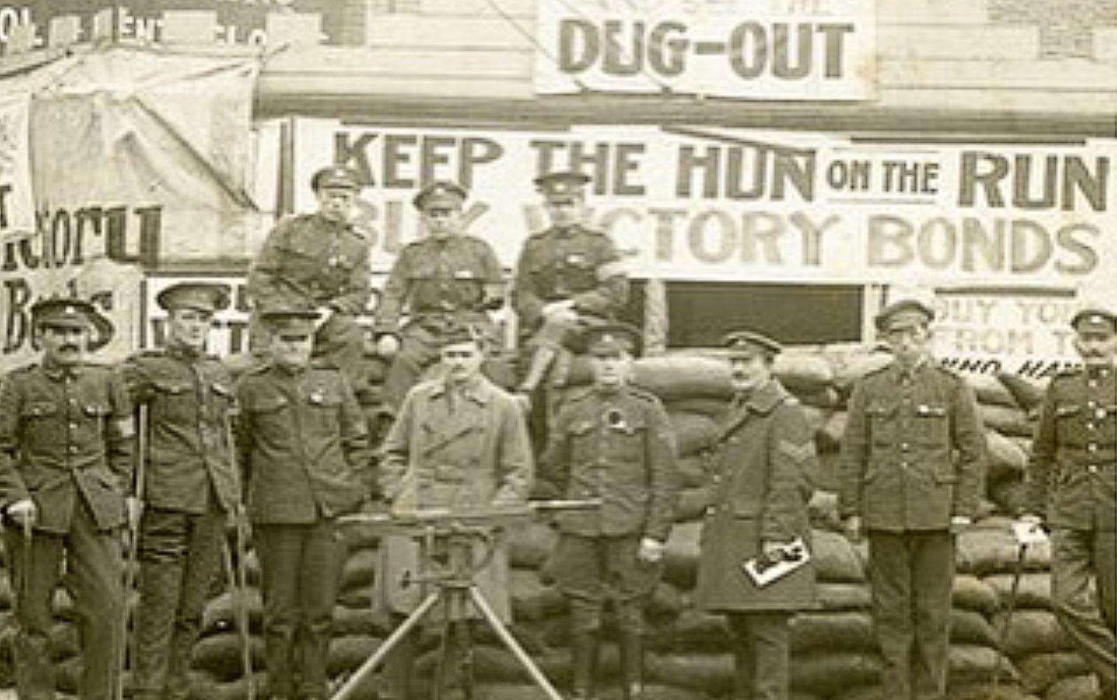 Soldiers raise money with war bonds