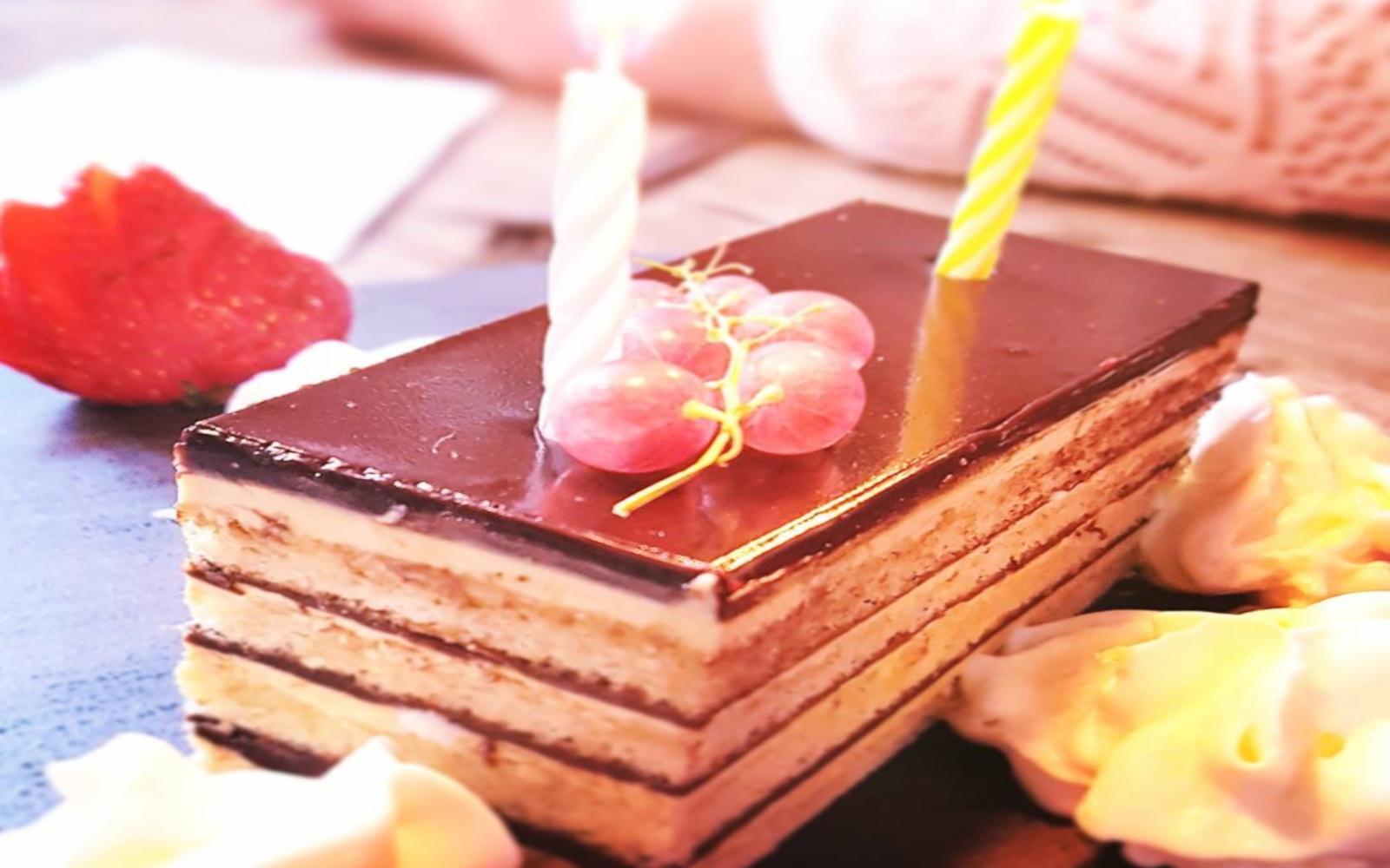 Chocolate cake on Gastown food tour