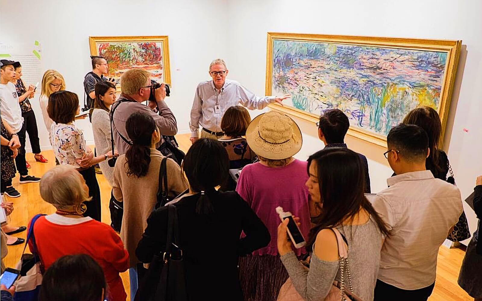 A guided tour at the Vancouver Art Gallery