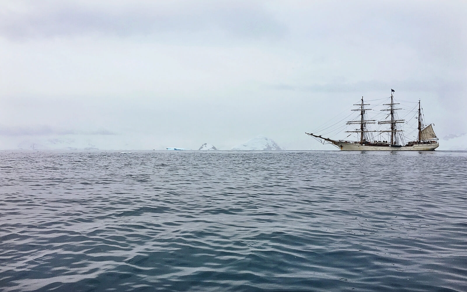 A tall ship explores the Arctic