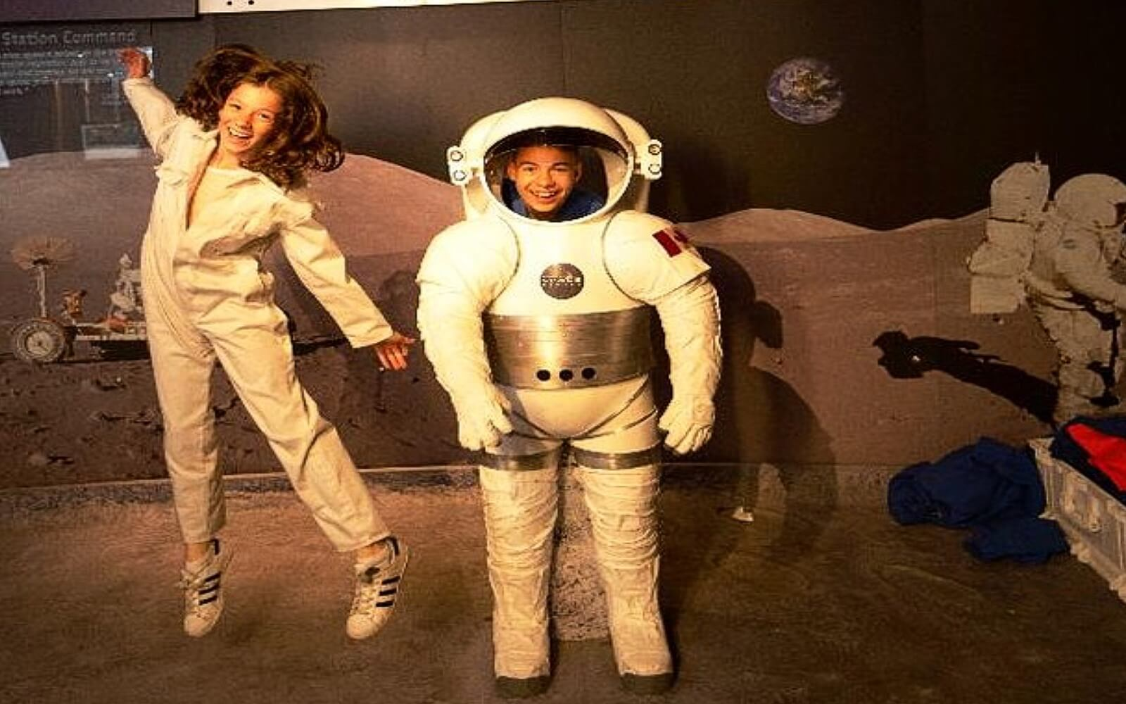 Children dressed up as astronauts