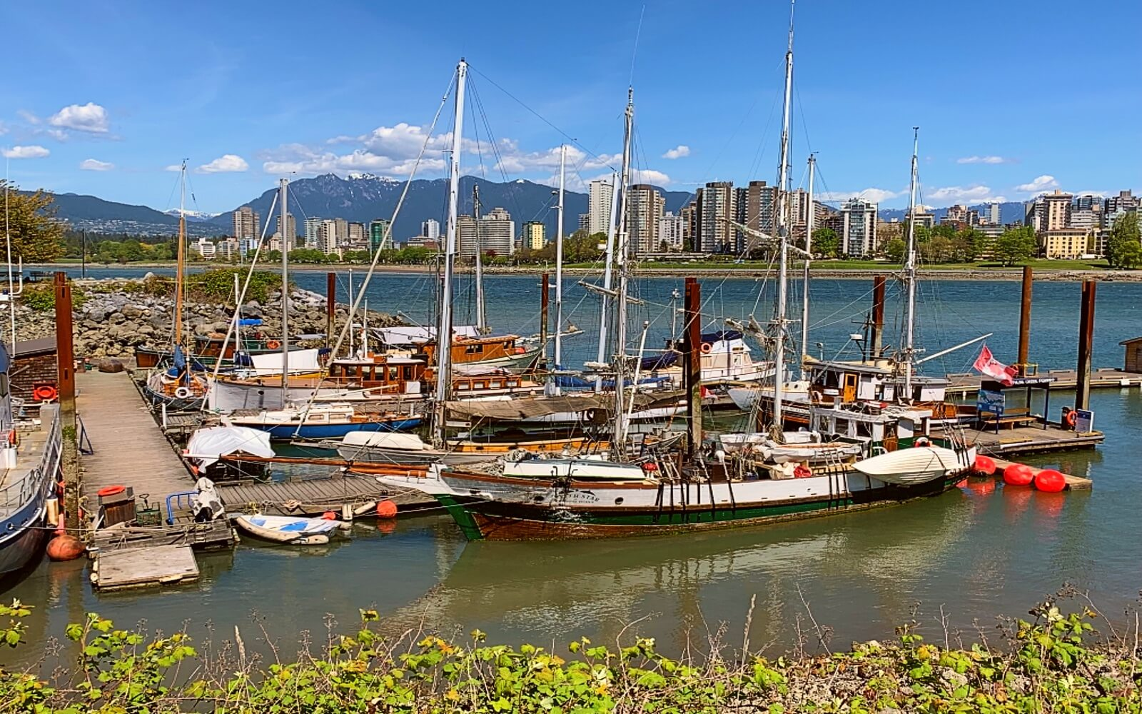 Historic vessels tied up in Heritage Harbour