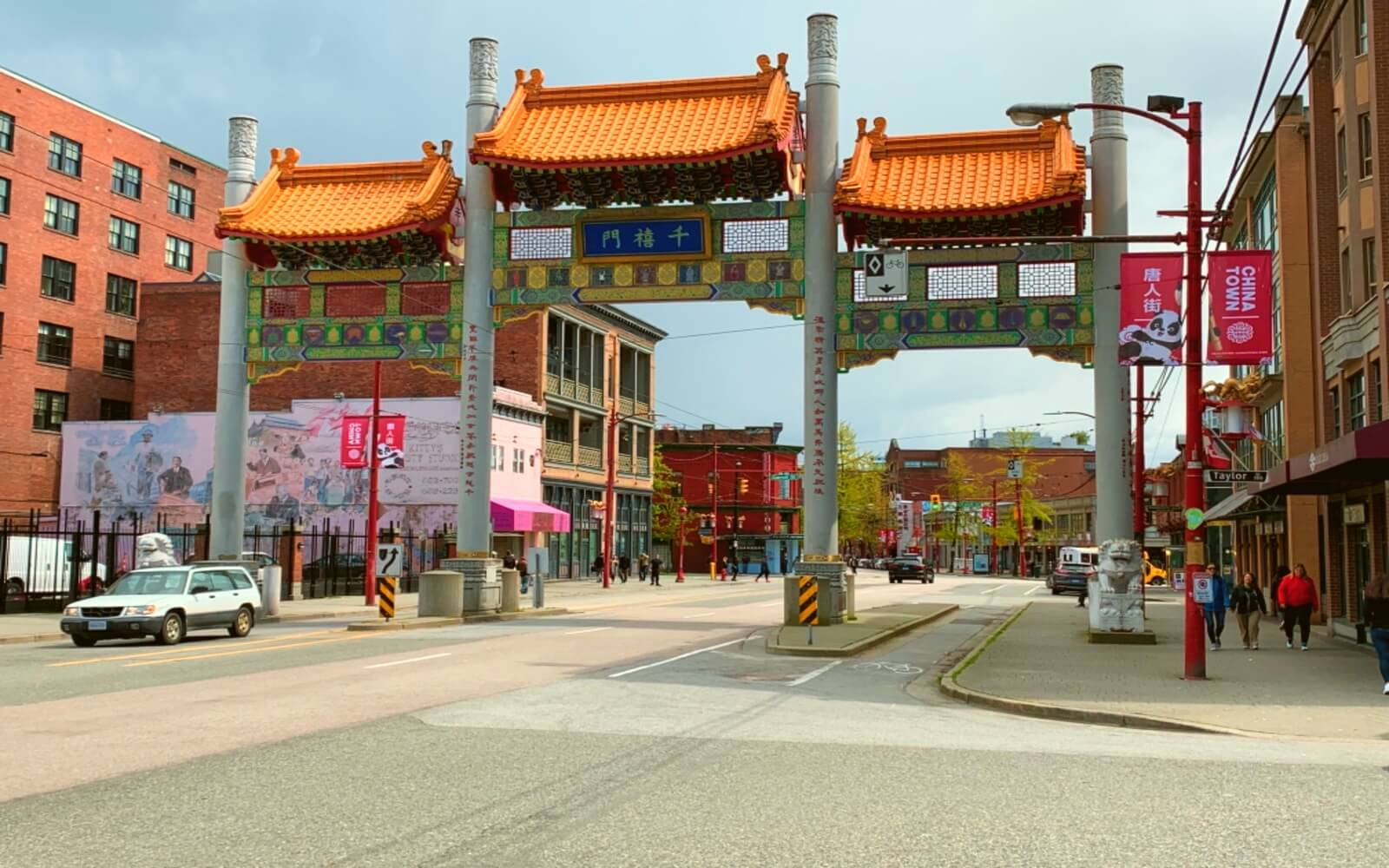 The Millenium Gate at the entrance to Chinatown