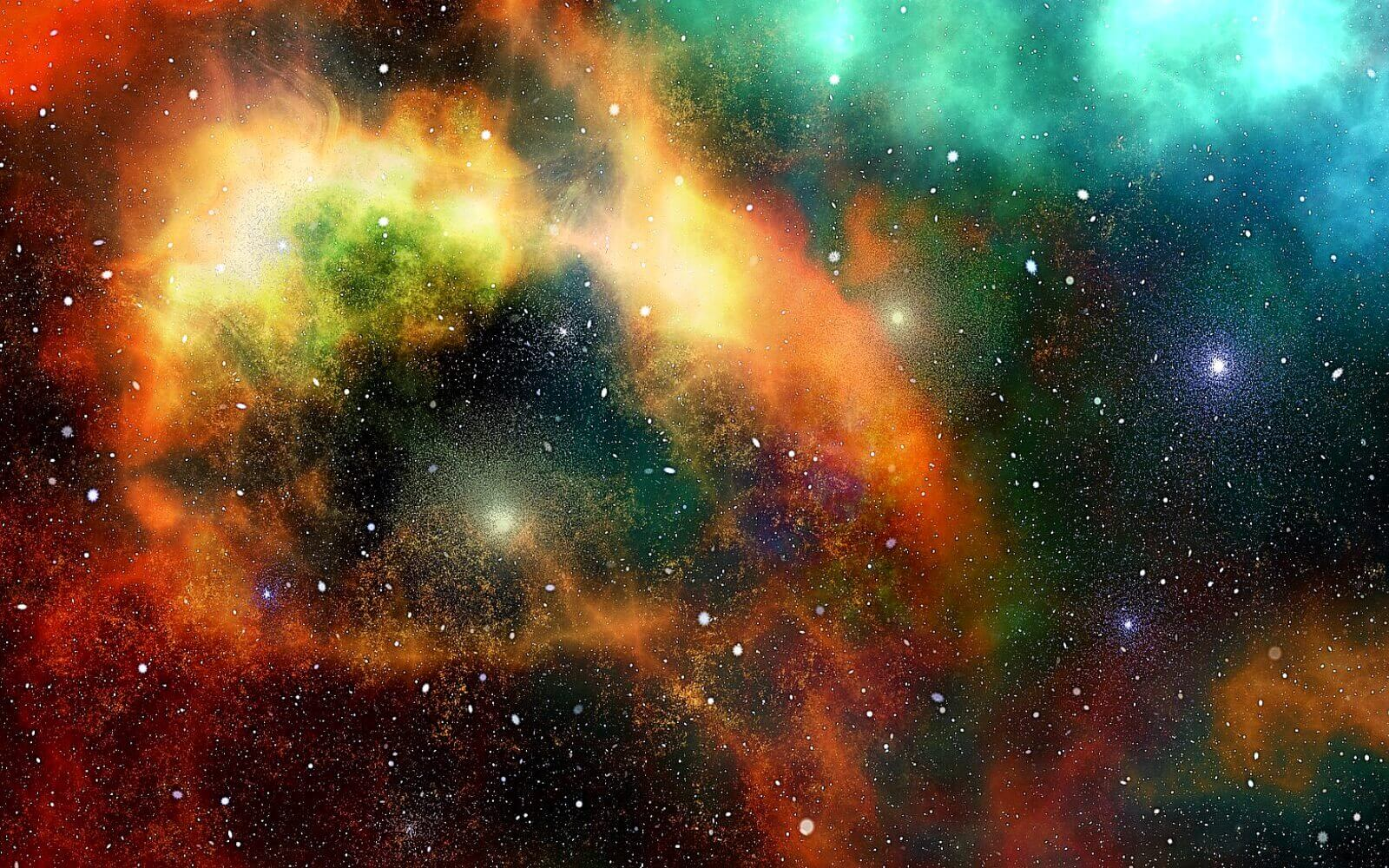 A colourful picture of space