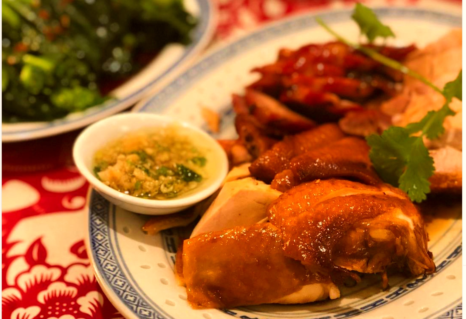 a bbq duck dish at chinatown bbq vancouver