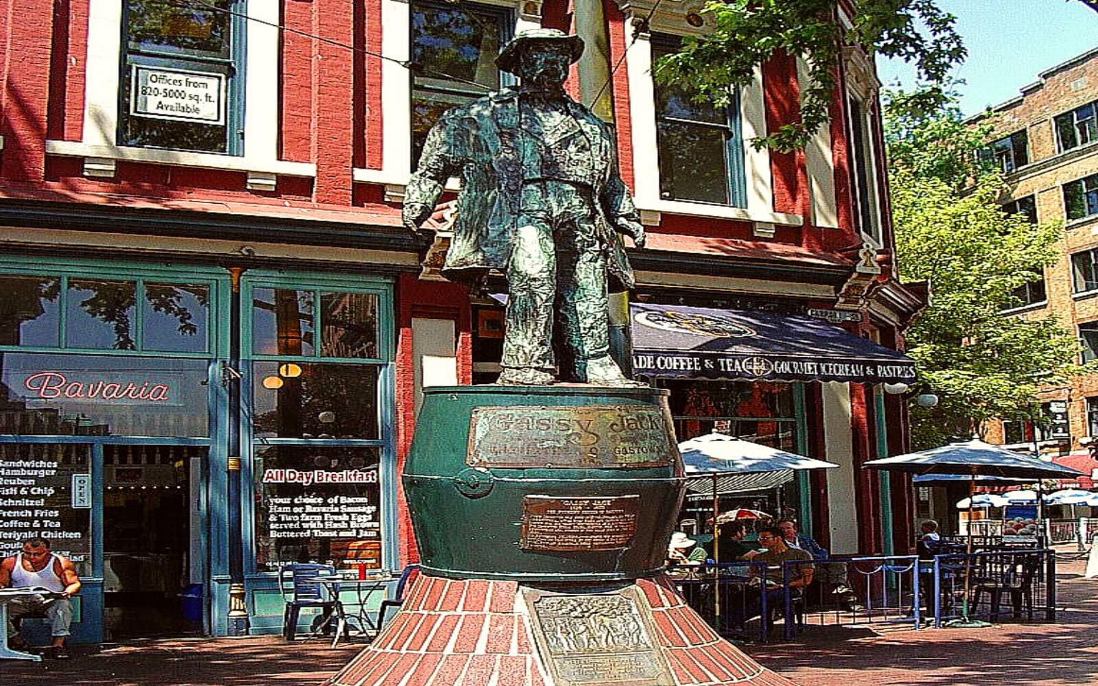 The Gassy Jack Statue in maple Tree Square