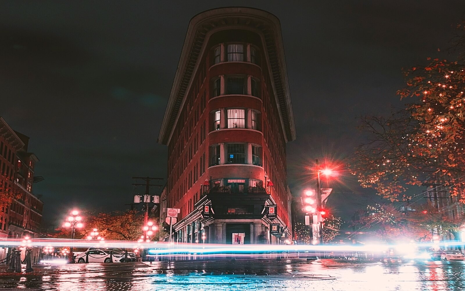The Flatiron Building in Gastown, Vancouver