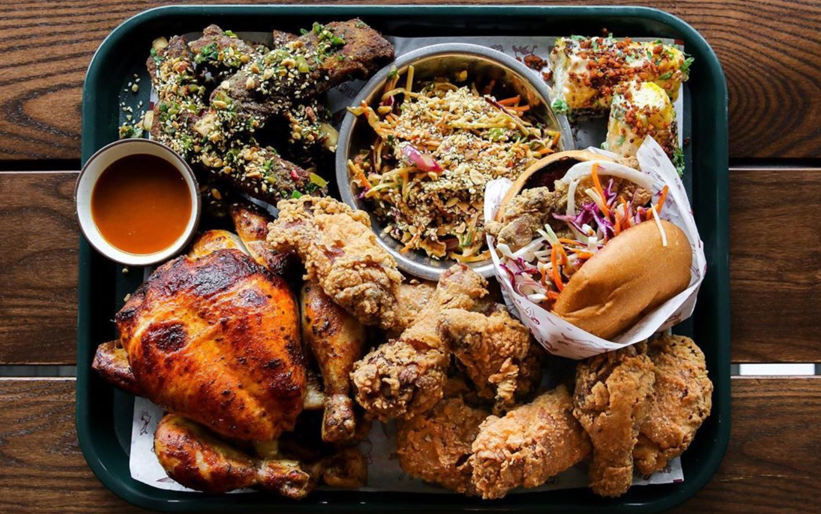 family platter at juke fried chicken chinatown vancouver