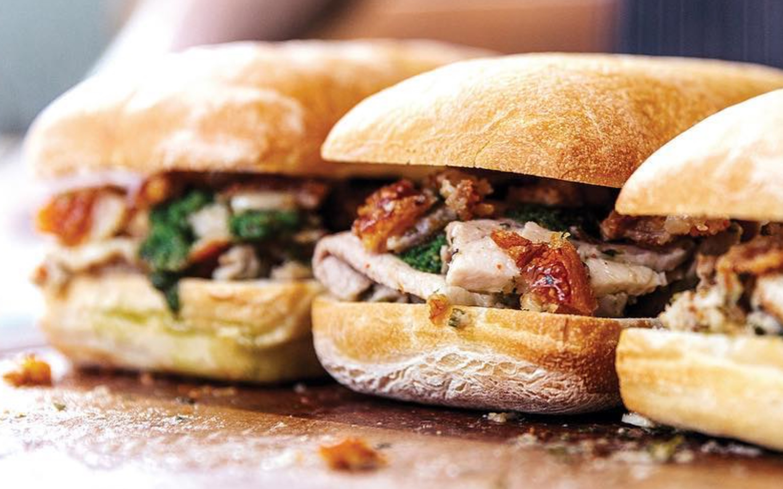 The porchetta sandwich at Meat and Bread, Vancouver