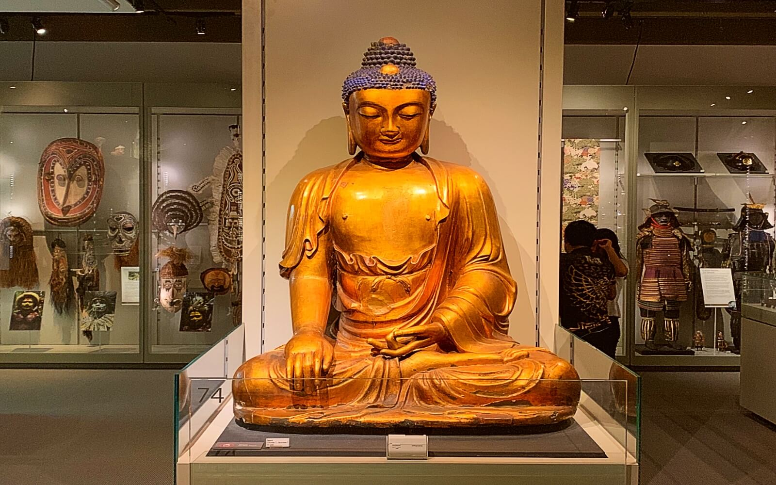 A Buddha statue at the Museum of Anthropology