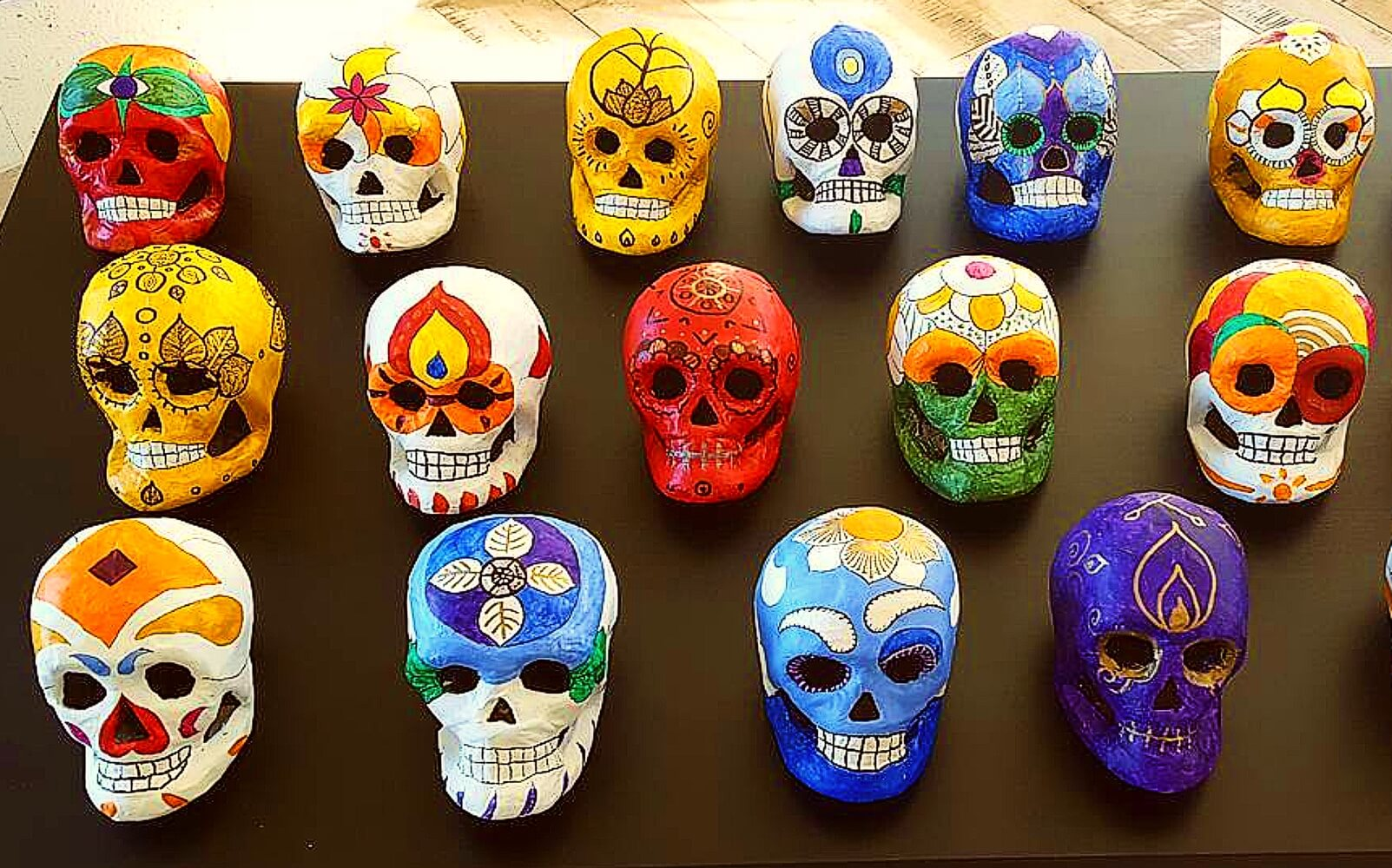 Mexican Day of the Dead masks at the Museum of Anthropology