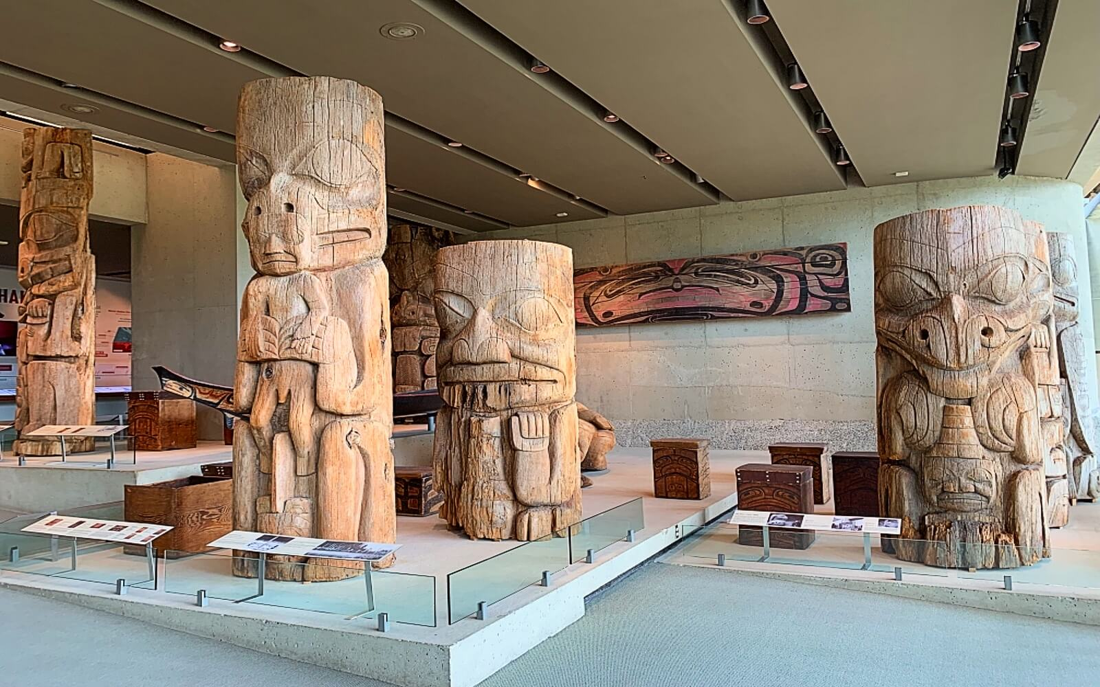 Artifacts in the Great Hall at the Museum of Anthropology