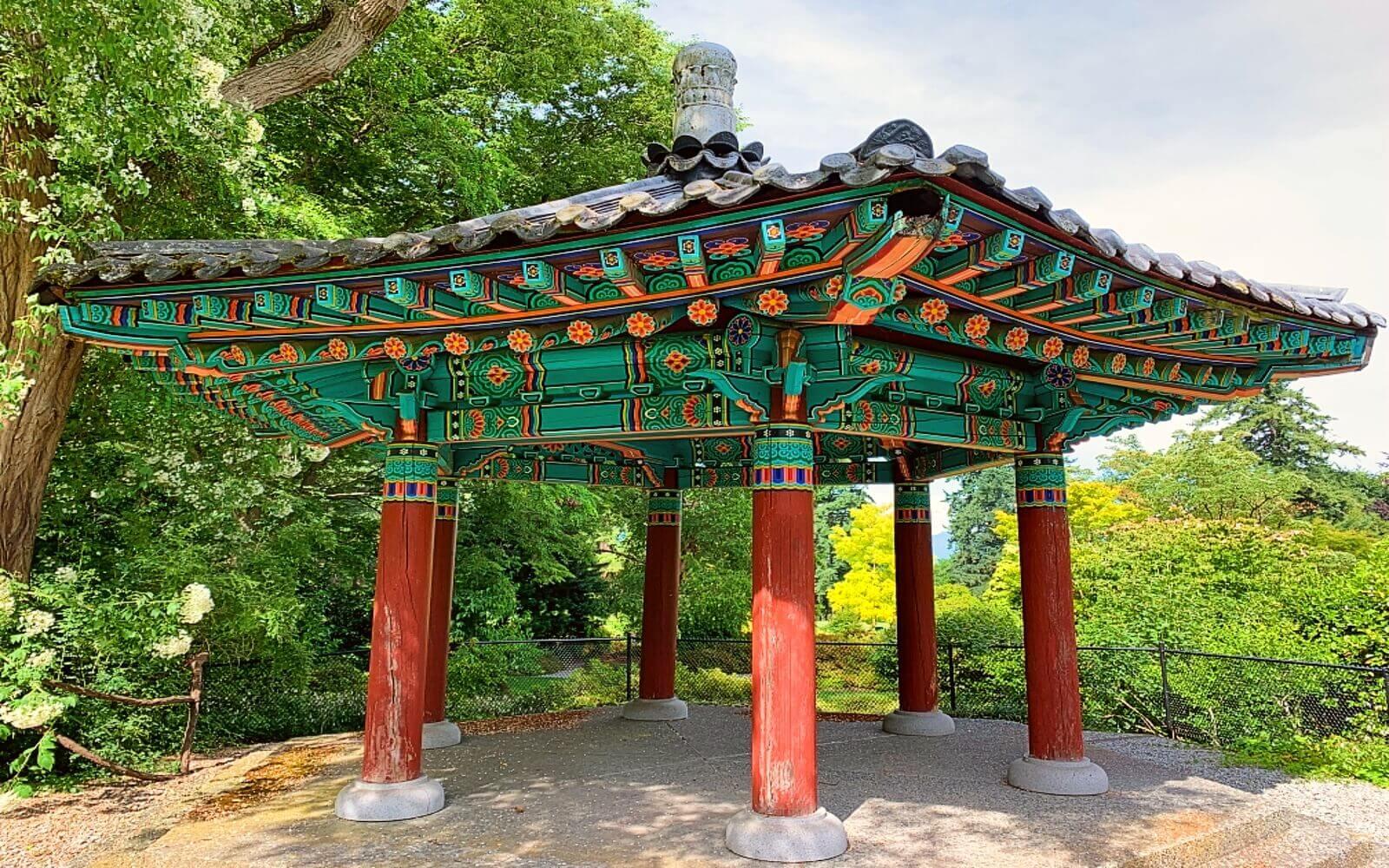 The Korean Pavilion at VanDusen Garden