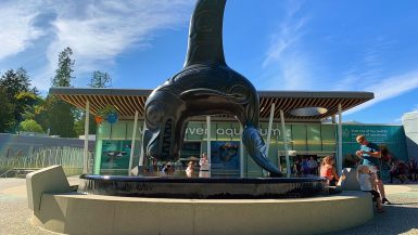 The Chief of the Undersea, outside the Vancouver Aquarium