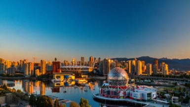 View of Vancouver's Stadium District