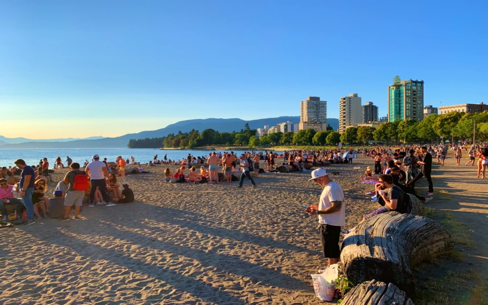 Sunset on English Bay Beach