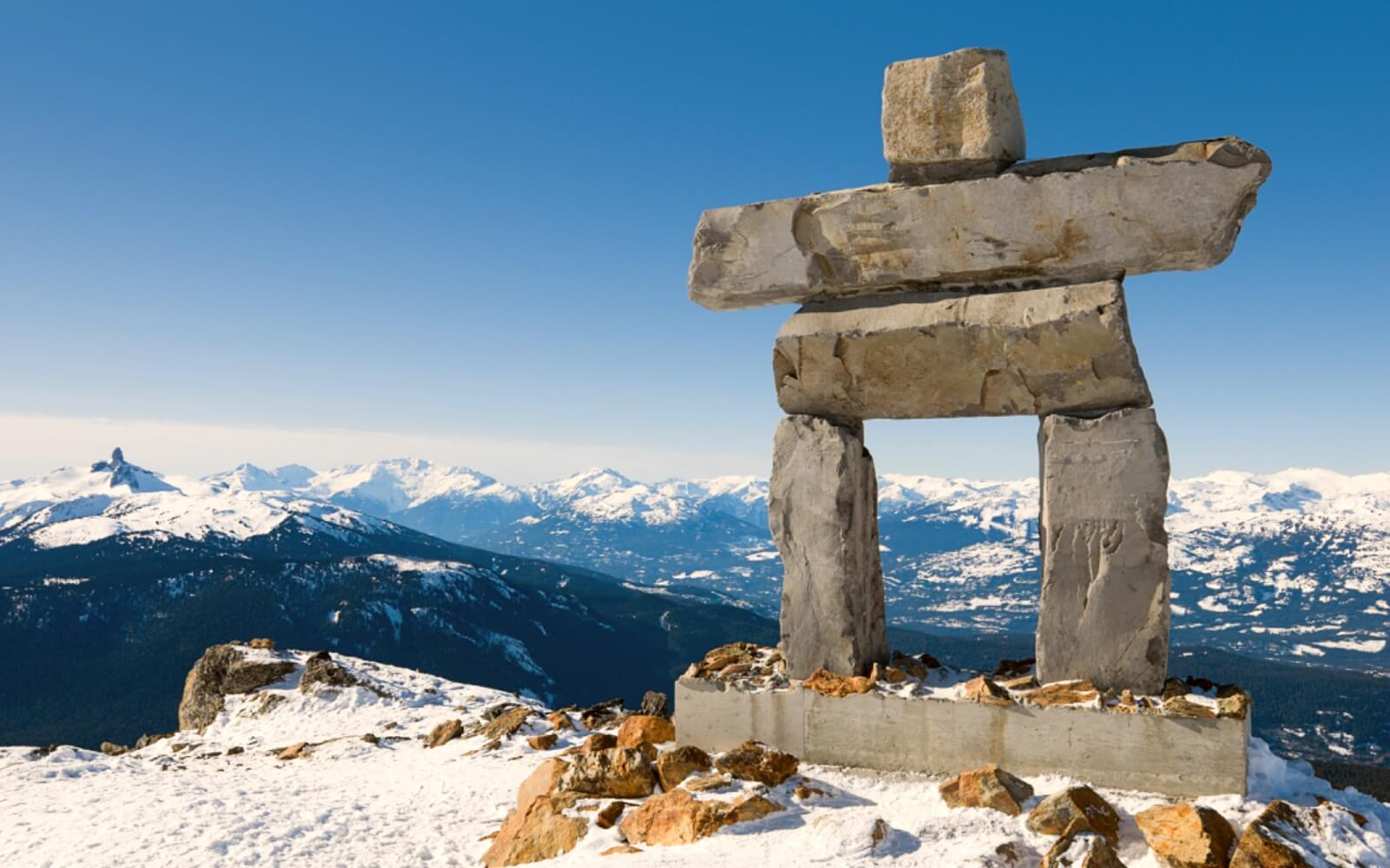 The Inukshuk at the top of Whistler Mountain