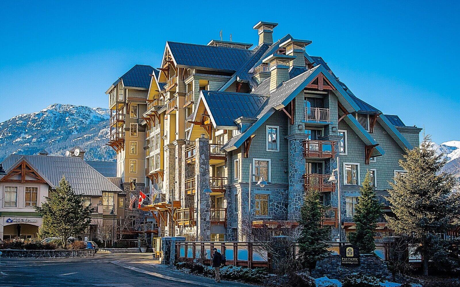 A ski lodge in Whistler Village