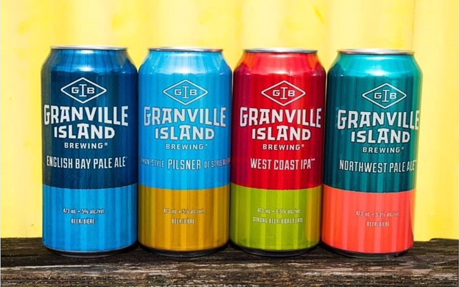 4 Tall cans from Granville Island Brewing