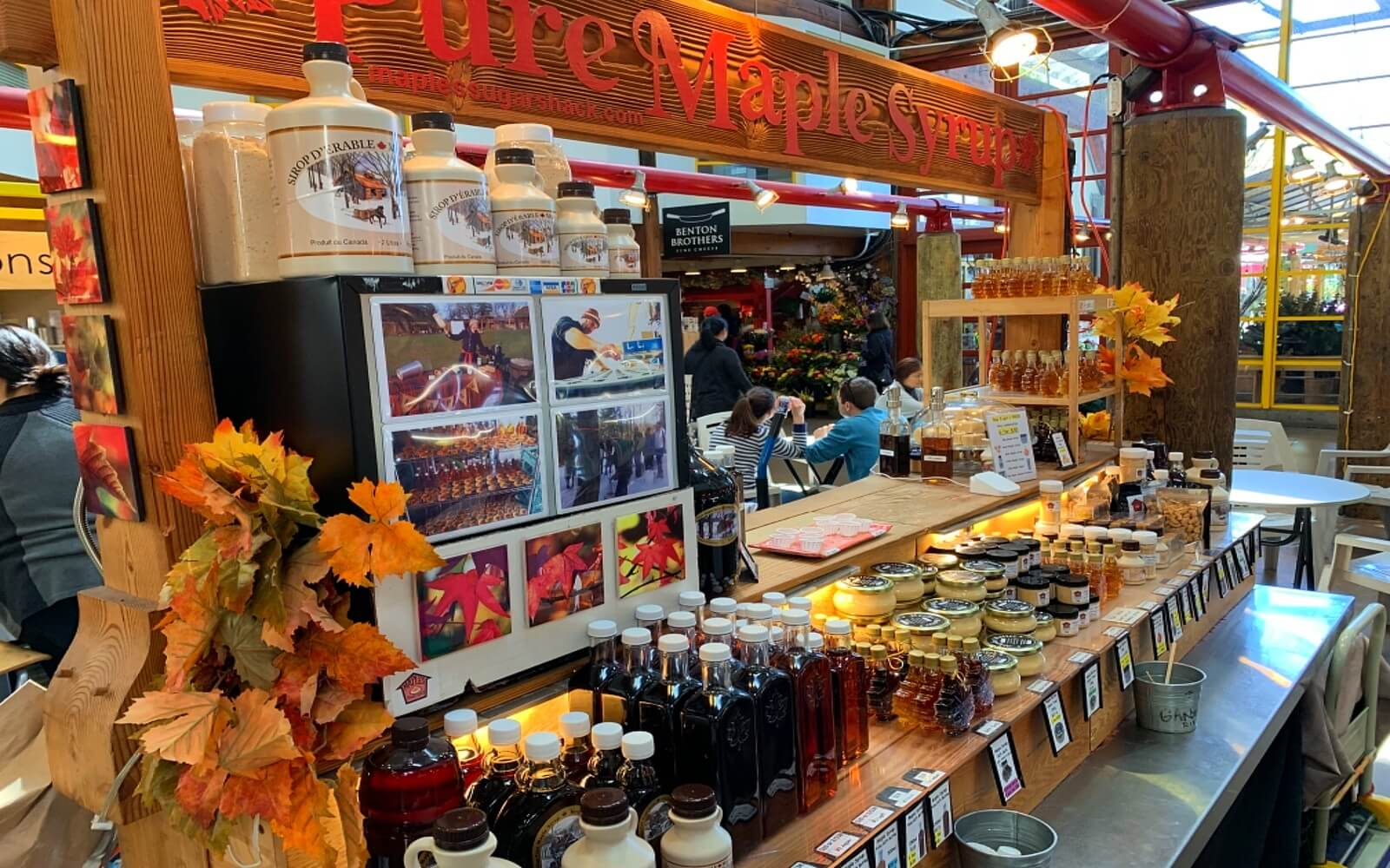 The Maple Syrup vendor at Granville Island Market