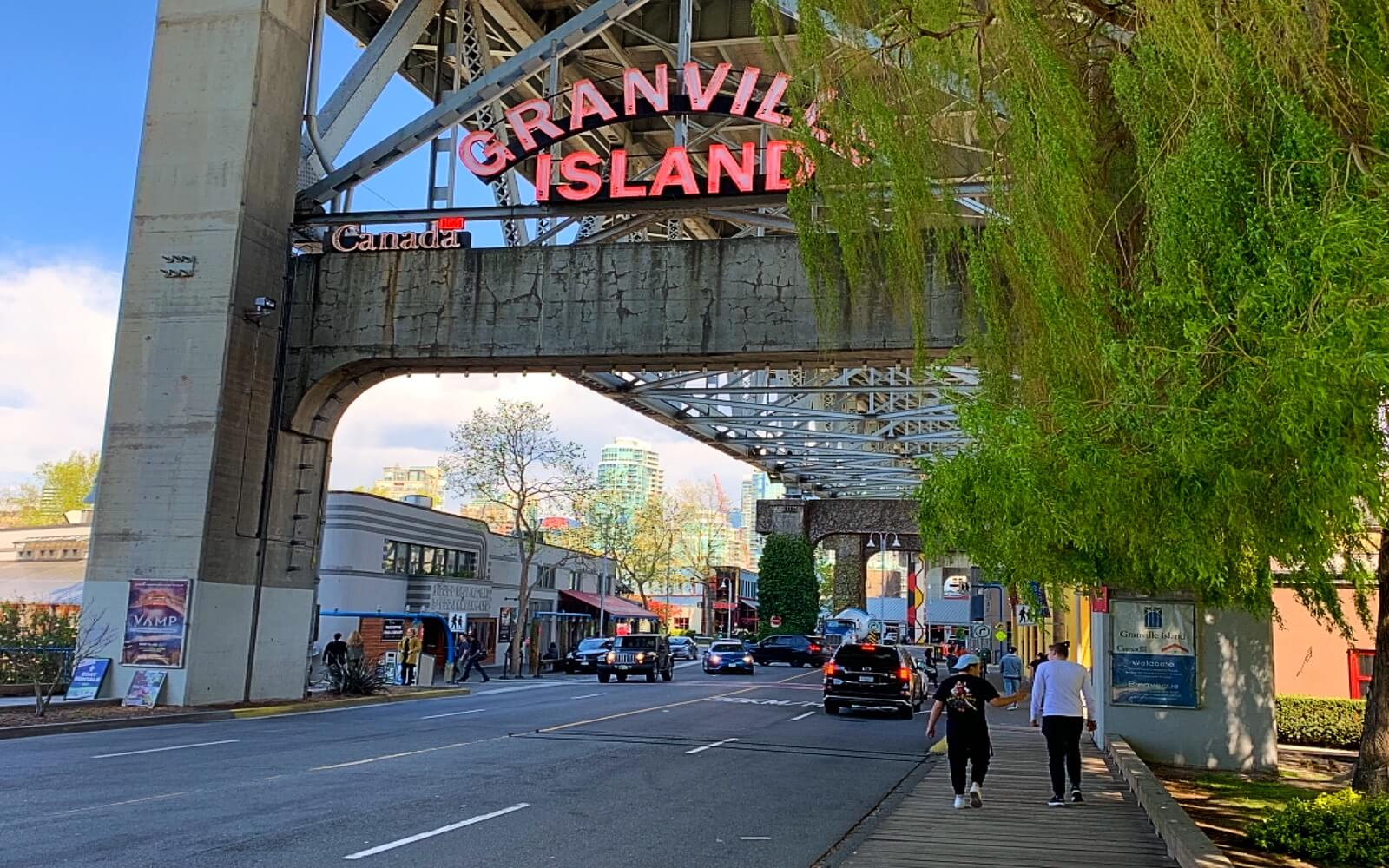 The entrance to Granville Island
