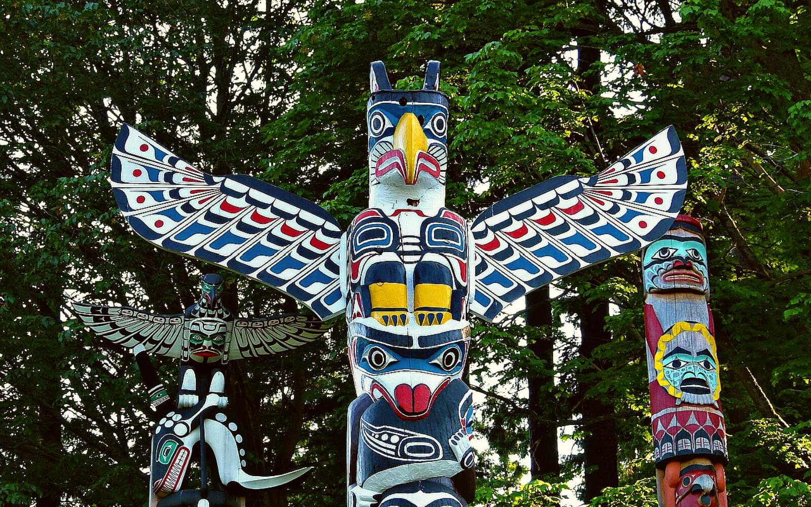 The Totem Poles at Stanley Park