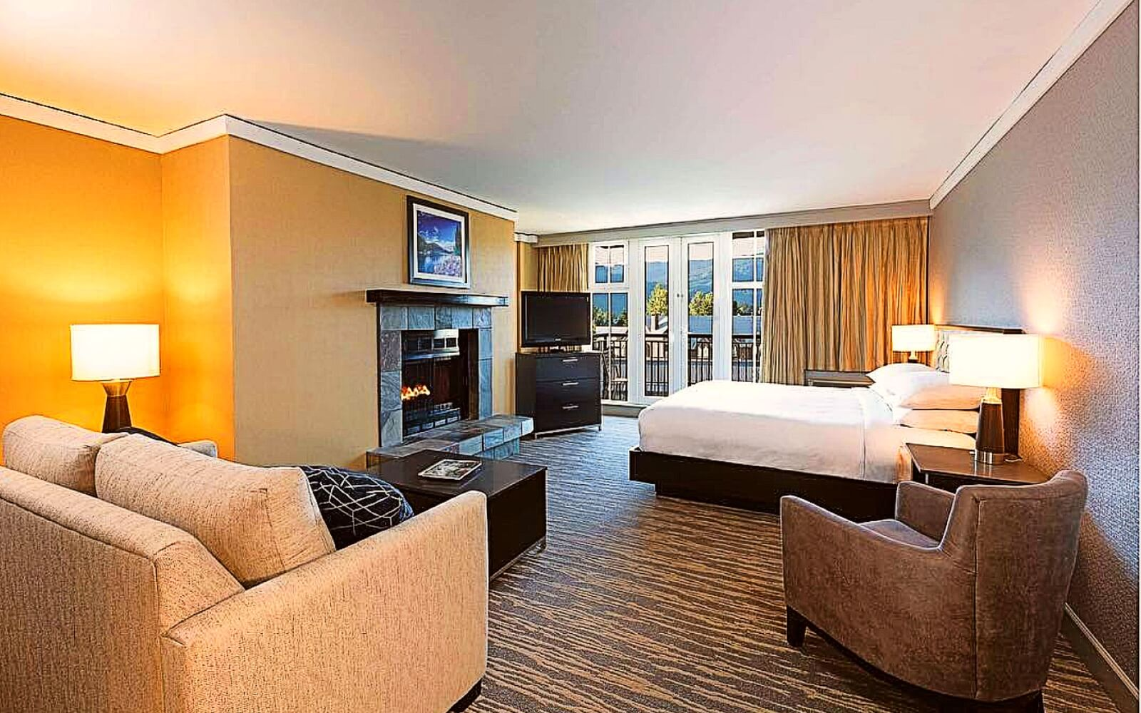 A room at the Hilton Resort and Spa, Whistler Village