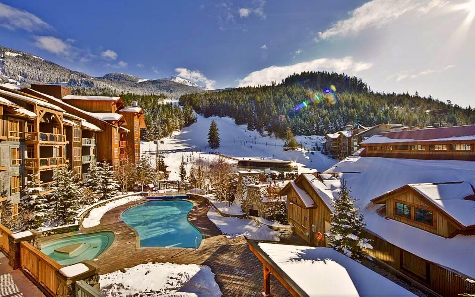The ski hill behind Legends Resort, Whistler Village
