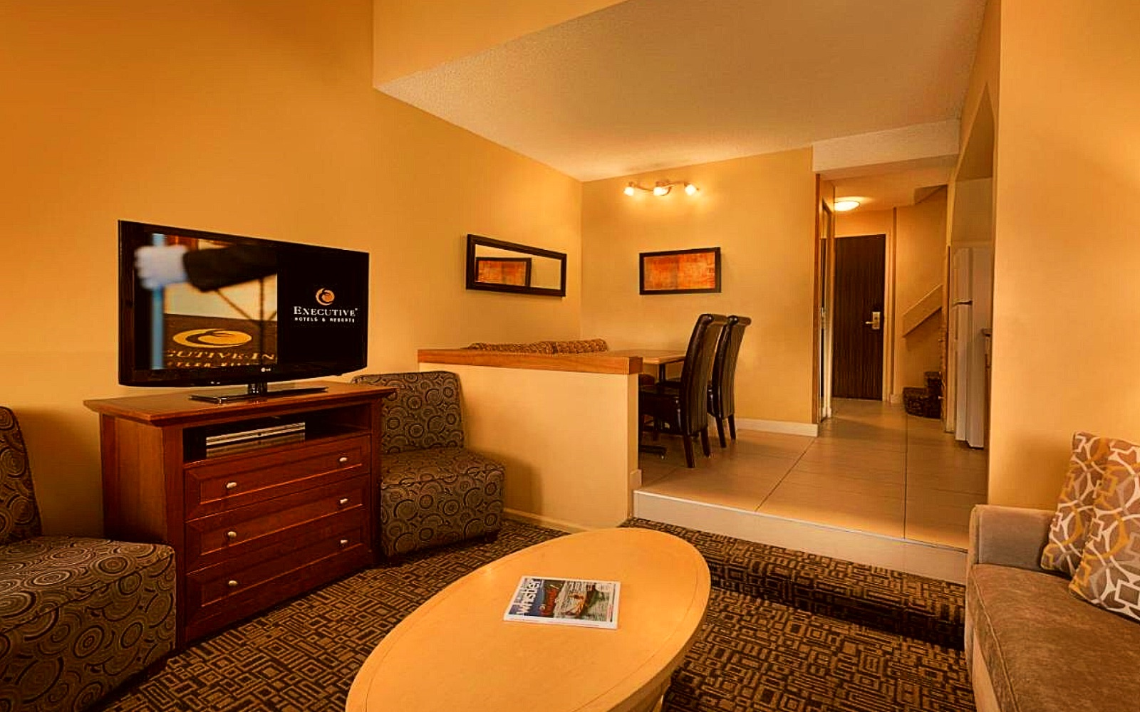 A suite at the Mountainside Hotel by Executive, Whistler Village