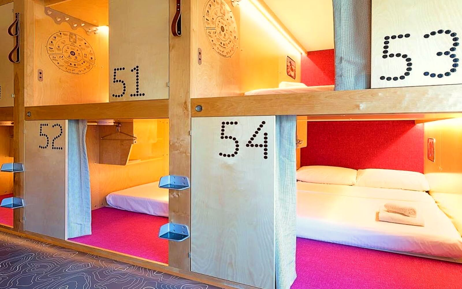 A private pod at the Pangea Pod Hotel in Whistler