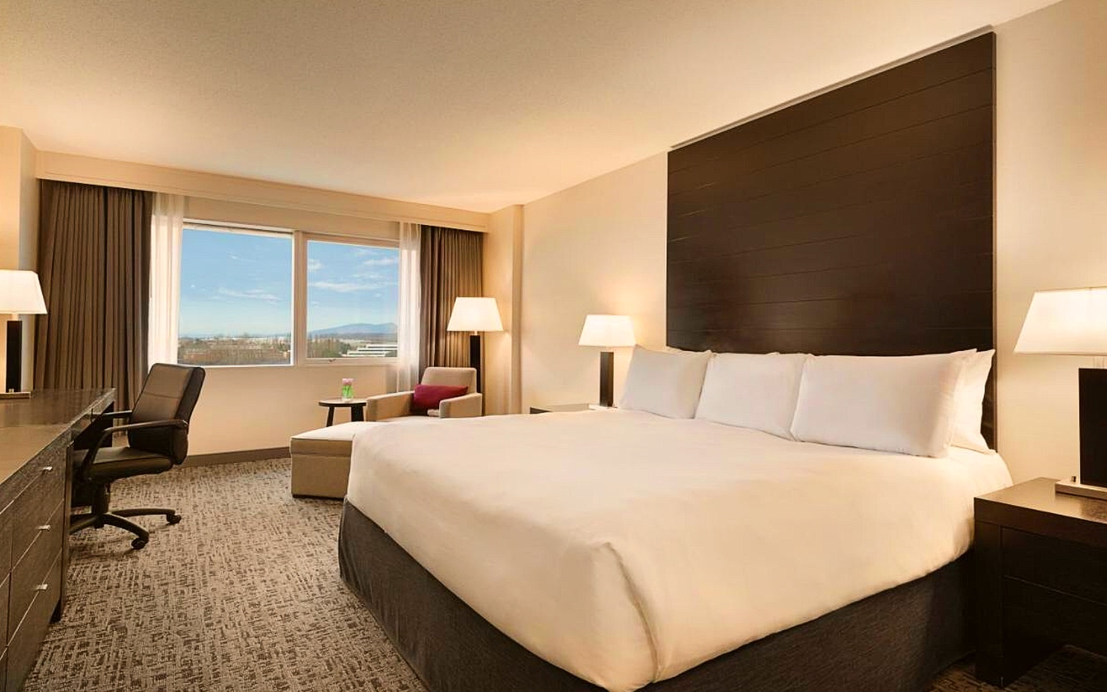 A room at the Radisson Hotel Vancouver Airport