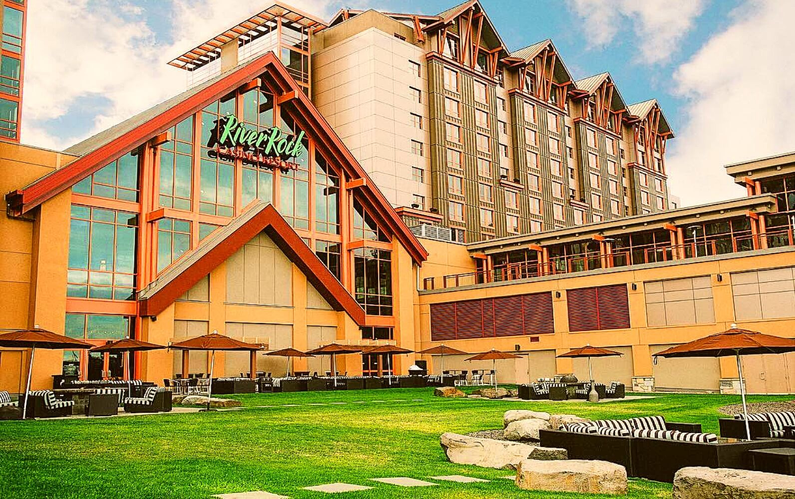 The back of the River Rock Casino Resort