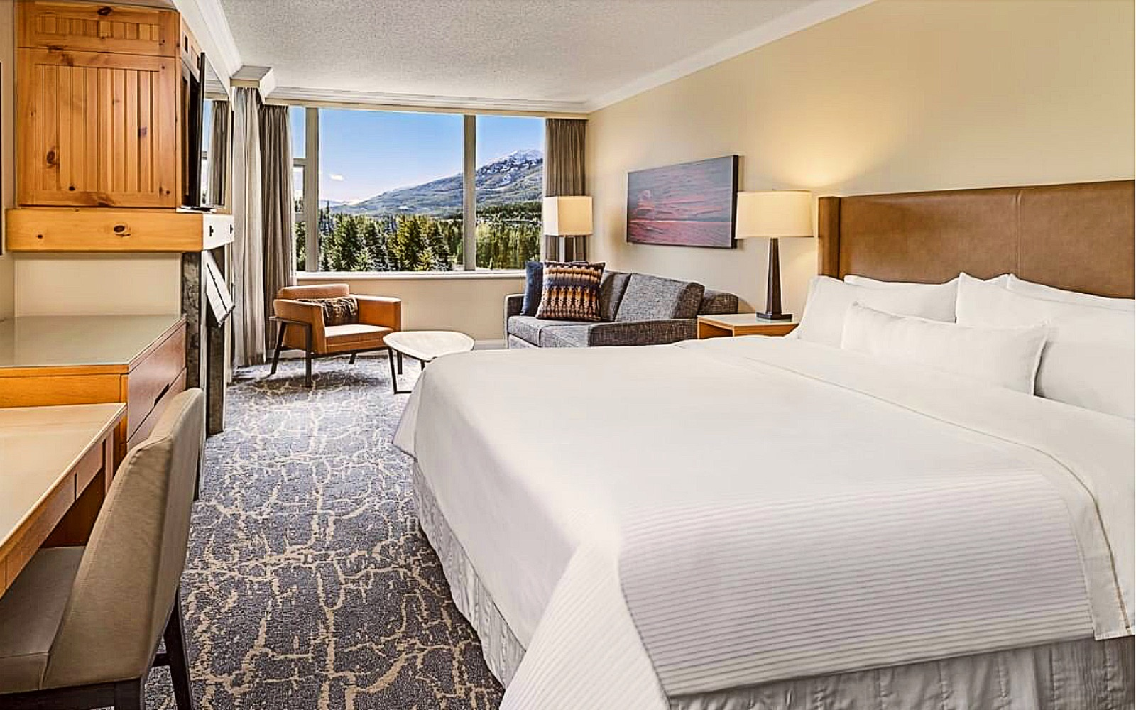 A room at the Westin Resort and Spa, Whistler