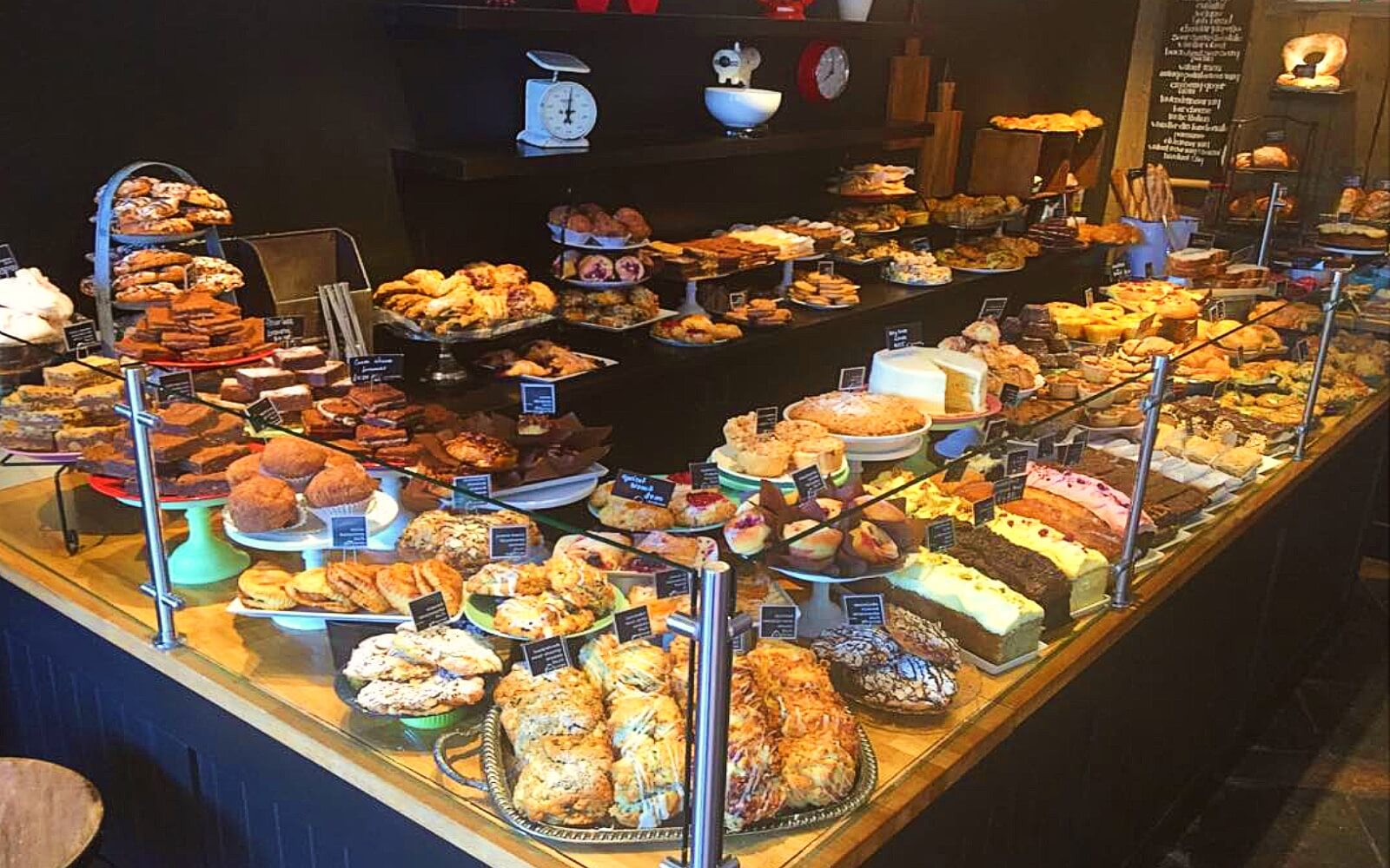 A massive selection of baked goods at Purebread, Whistler Village