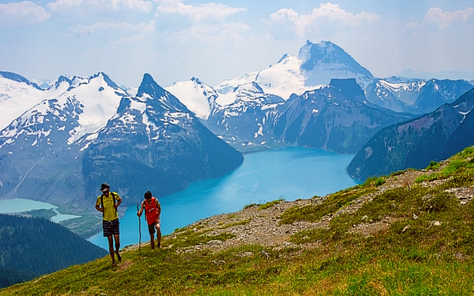 A pair of hikers around Whistler, BC