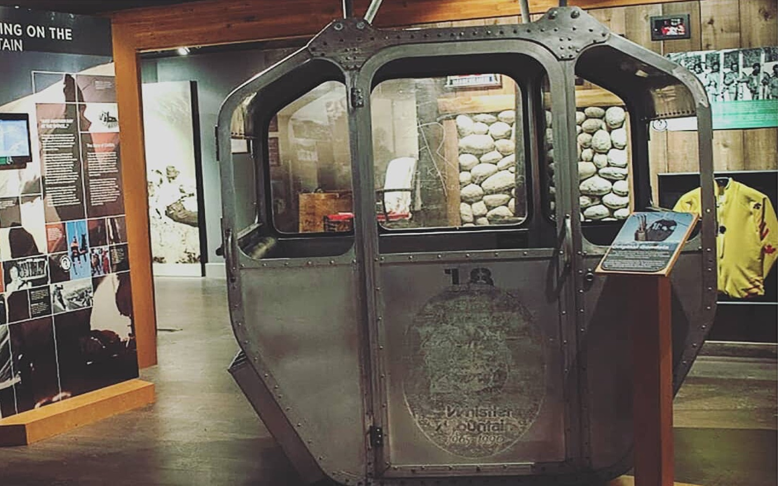 An original gondola at the Whistler Museum