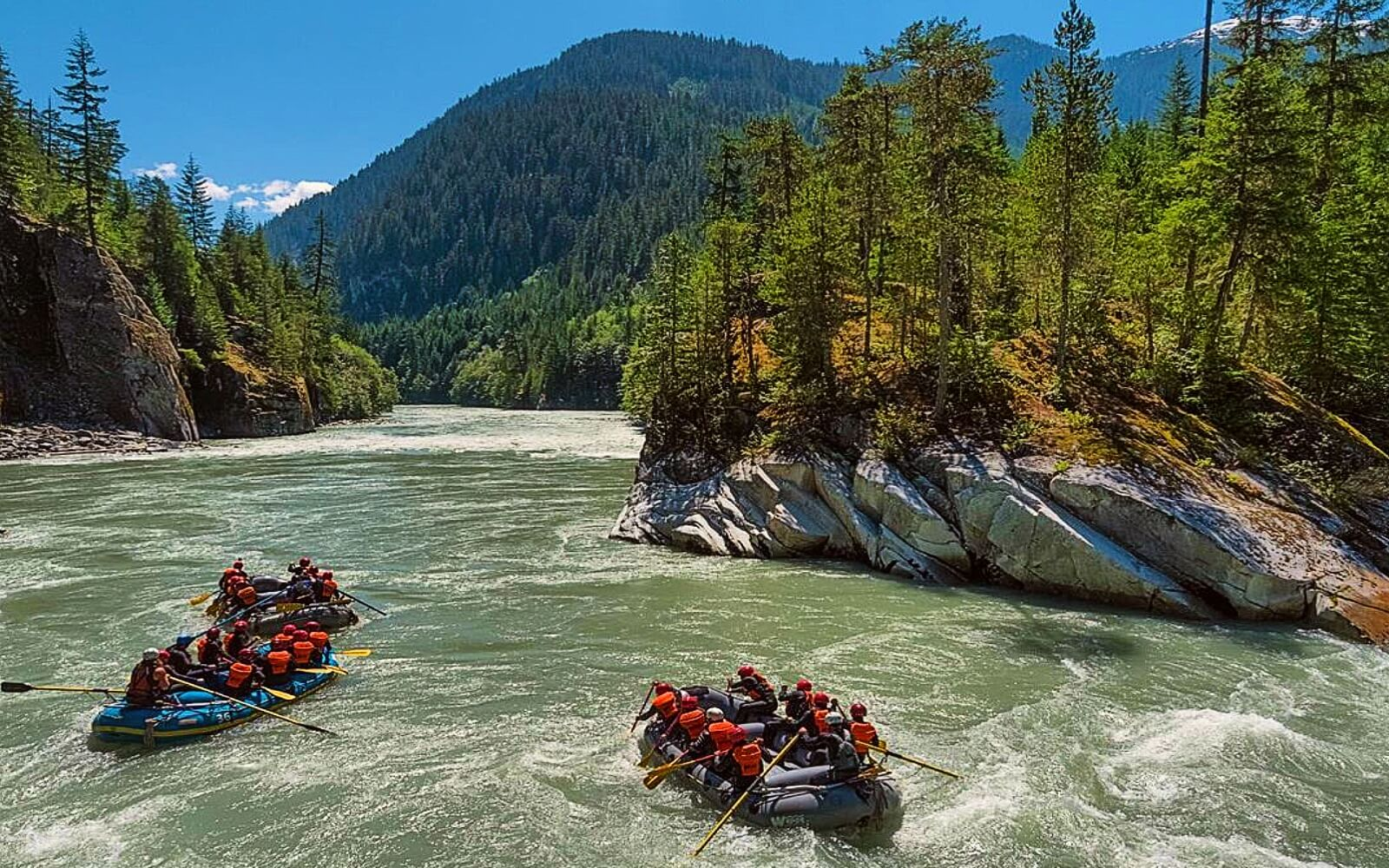 Whitewater rafting tours on the Squamish-Elaho River, Whistler