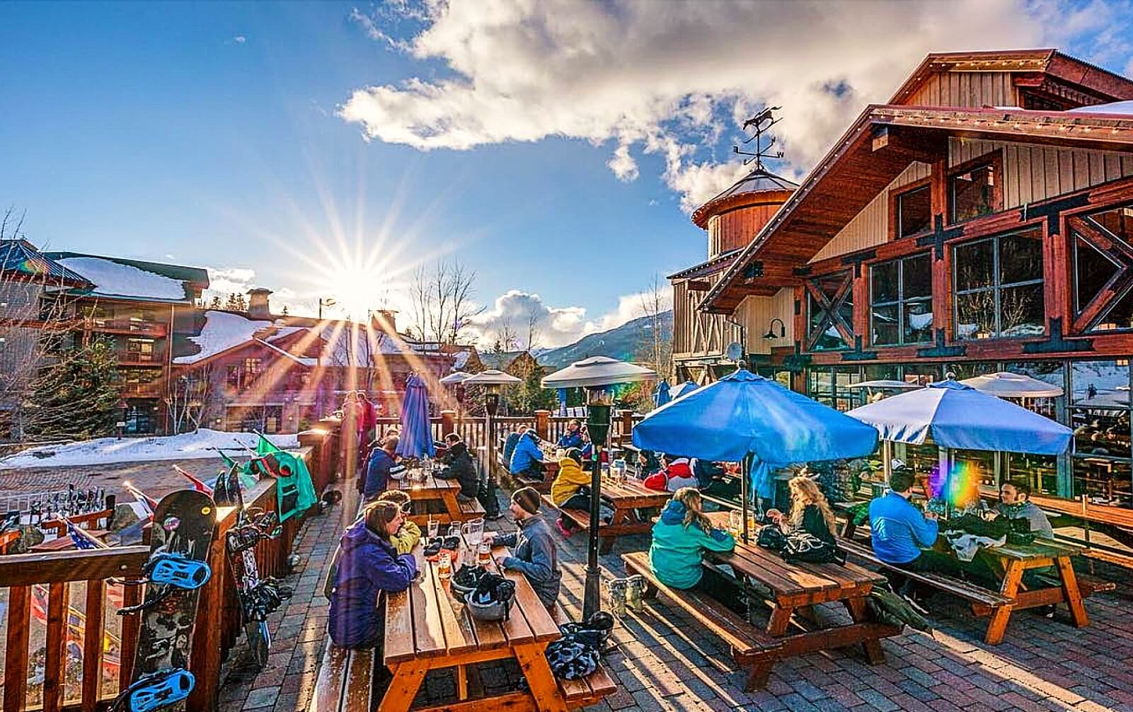 The patio at Dusty's, Whistler