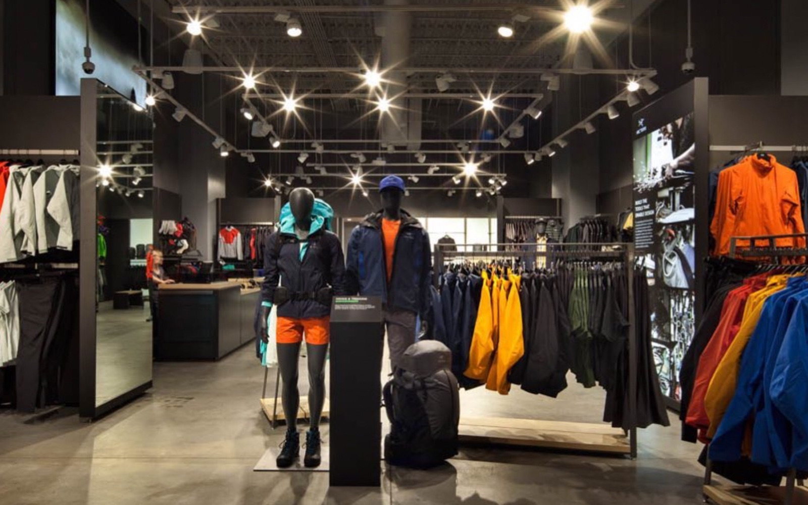 A shot from inside the Arc'teryx store in Kitsilano