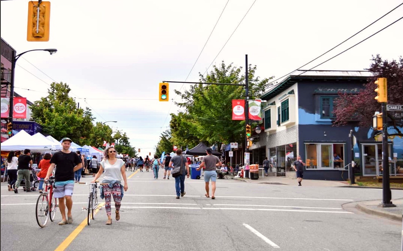 Car Free Day on Vancouver's Commercial Drive