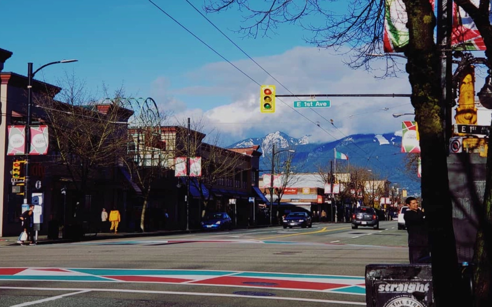 The intersection of 1st and Commercial, Little Italy Vancouver