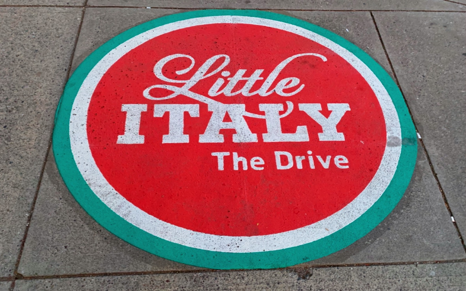 A street sign in Little Italy, Vancouver