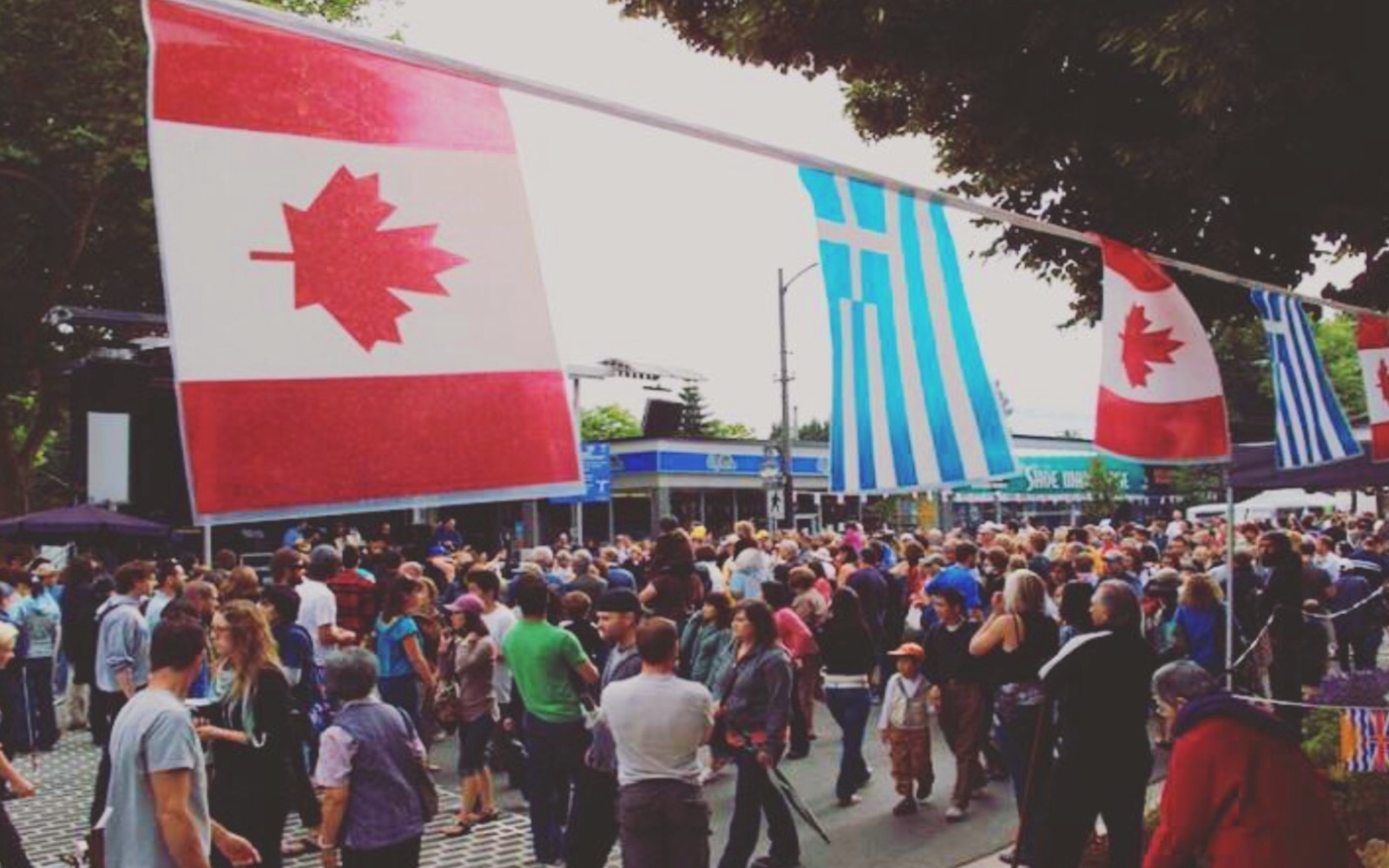 The crowd at Greek Day, Kitsilano