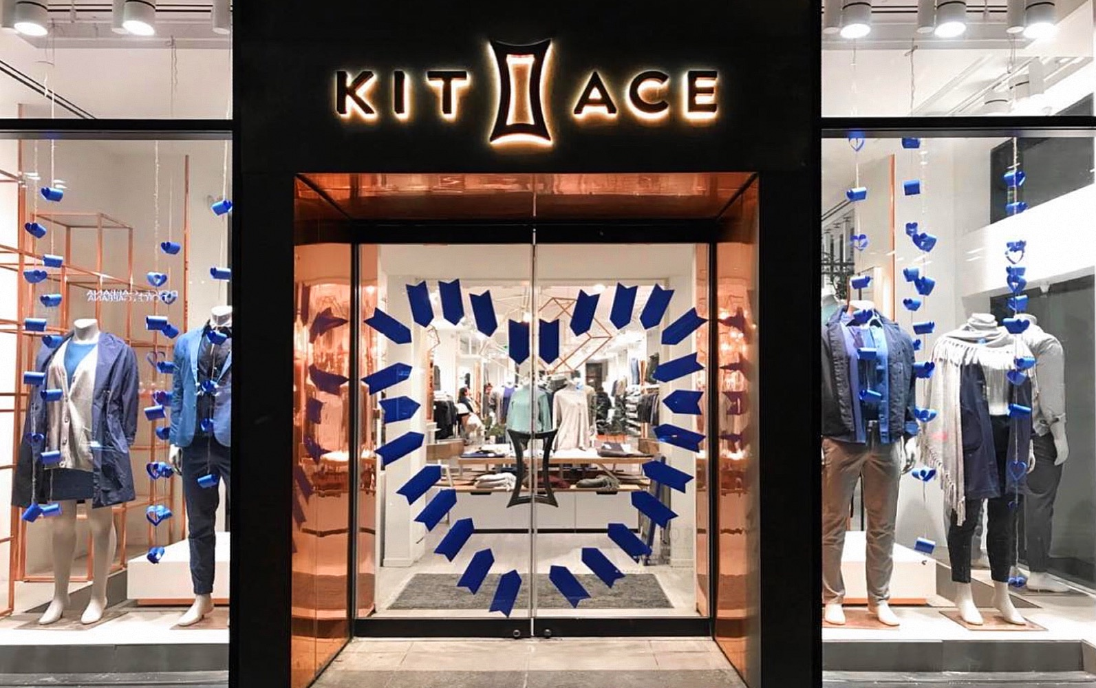 The entrance to Kit and Ace