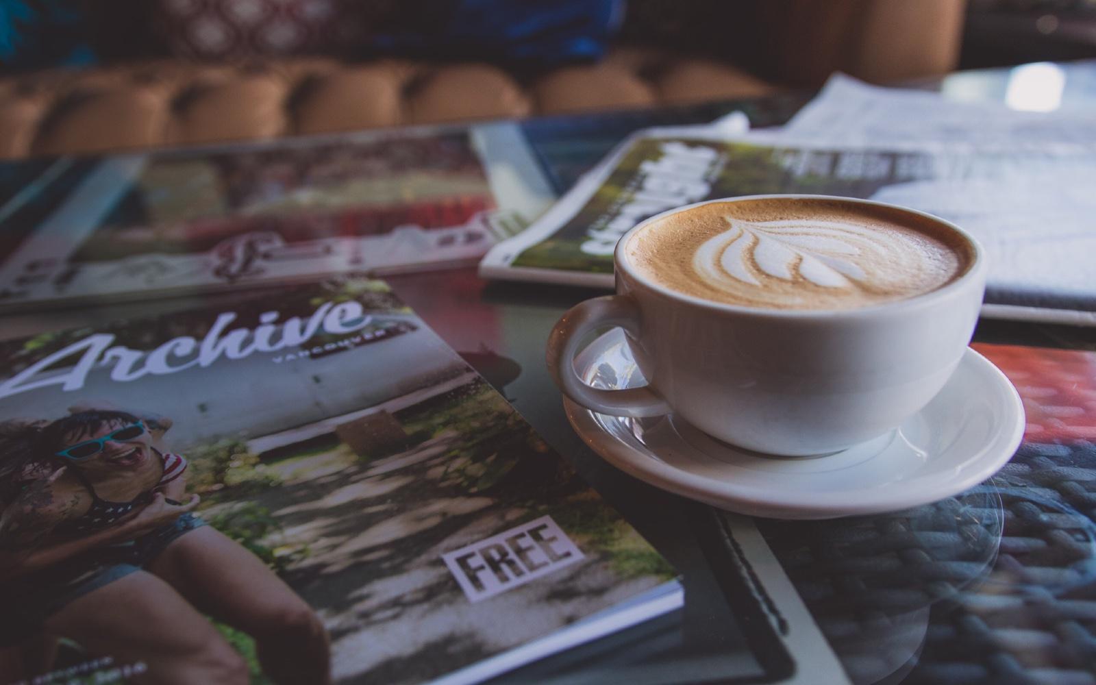 A cappuccino in Kitsilano, BC